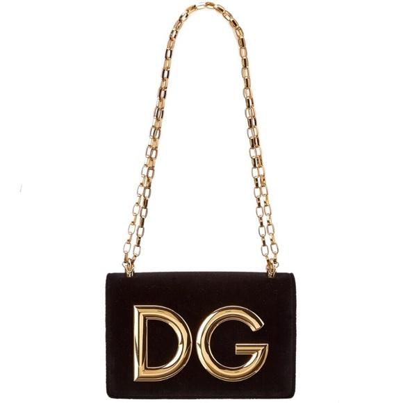 c84d8a10b2c3 Dolce & Gabbana Bags | Dolce Gabbana Nwt Dg Girls Black Velvet Bag ...